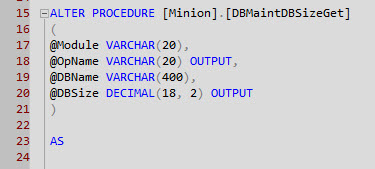 SQL Server Output Parameters